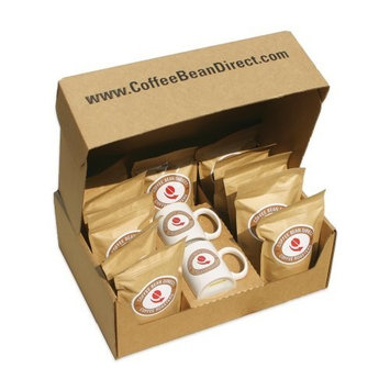 Coffee Bean Direct Assorted Flavored Whole Bean Coffee Sampler, 9-Pound Box