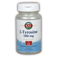 Kal L-Tyrosine - 500 mg - 30 Tablets