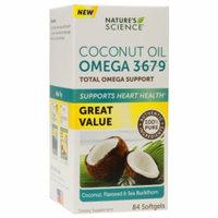 Nature's Science Coconut Oil Omega 3-6-7-9, Softgels, 84 ea