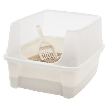 Iris IRIS Open Top Litter Box with Scoop, Ivory