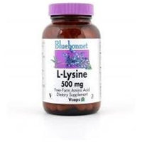 Bluebonnet Nutrition - L-Lysine Free-Form Amino Acid 500 mg. - 50 Vegetarian Capsules CLEARANCE PRICED