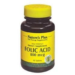 Nature's Plus - Folic Acid 800 mcg. - 90 Tablets