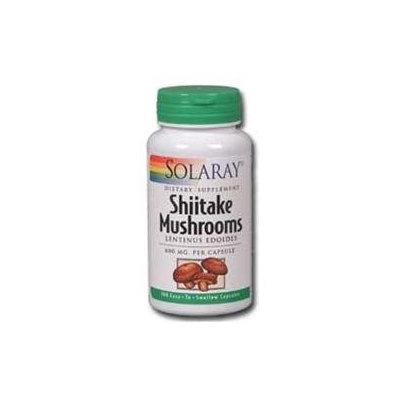 Solaray Shiitake Mushroom - 600 mg - 100 Capsules