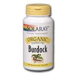 Solaray Organic Burdock - 100 Vegetarian Capsules