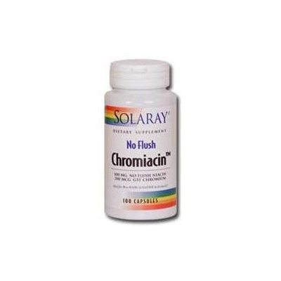 Solaray No Flush Chromiacin - 100 mg - 100 Capsules