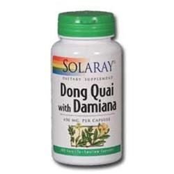 Solaray Dong Quai with Damiana - 100 Capsules
