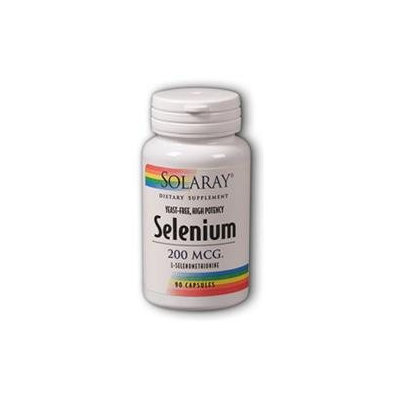 Solaray - Selenium (Yeast Free), 100 mcg, 90 capsules [Health and Beauty]