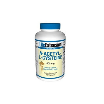 Life Extension N-Acetyl Cysteine, 600 mg, 60 Capsules