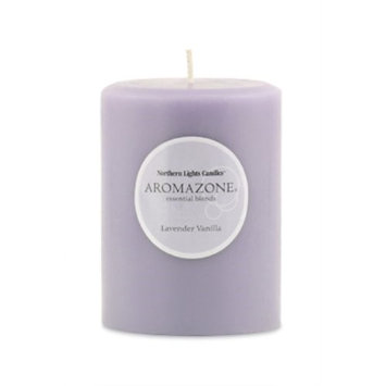 None Lavender and Vanilla Essential Blend 4-inch Pillar Candle