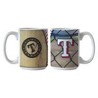 Boelter Brands MLB Rangers Set of 2 Ballpark Coffee Mug - 15oz