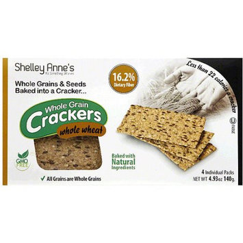 Shelley Annes Shelley Anne's Whole Wheat Whole Grain Crackers, 4.93 oz (Pack of 12)