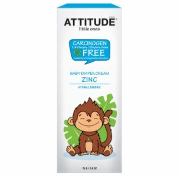 Attitude Little Ones Baby Diaper Cream Zinc, Fragrance Free, 2.6 oz