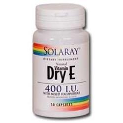Solaray Dry Vitamin E - 400 IU - 50 Capsules