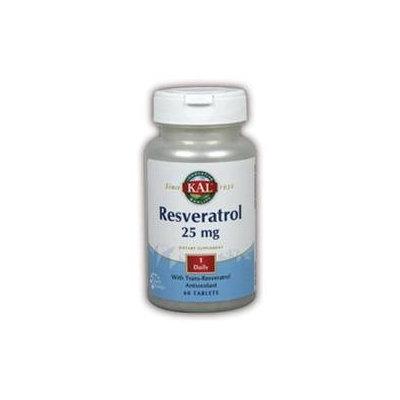 KAL Resveratrol 25 MG - 60 Tablets - Resveratrol