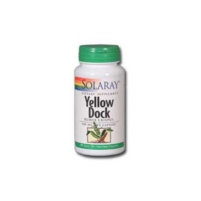 Solaray Yellow Dock - 500 mg - 100 Capsules