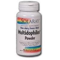 Solaray Multidophilus Powder - 5 billion microorganisms - 2.5 oz