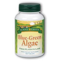 Solaray Blue-Green Algae 500mg Sunny Green 120 Tabs