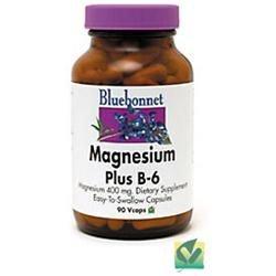 Bluebonnet Nutrition - Magnesium Plus B-6 - 90 Vegetarian Capsules