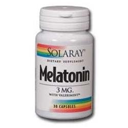 Solaray Melatonin with Valerimint - 3 mg - 30 Capsules