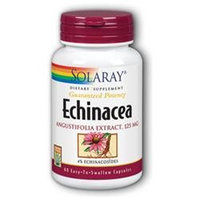 Solaray Echinacea Angustifolia Extract - 125 mg - 60 Capsules