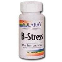 Solaray B-Stress + Iron And Zinc - 60 Capsules - Vitamin B Complex