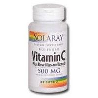 Solaray Vitamin C plus Rosehips and Acerola - 500 mg - 100 Capsules