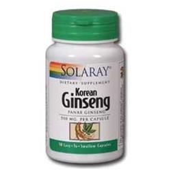 Solaray Korean Ginseng 550 MG - 50 Capsules - Other Herbs