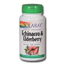 Solaray Echinacea and Elderberry - 440 mg - 100 Capsules