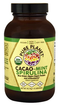Pure Planet - Organic Cacao Mint Spirulina - 93.75 Grams