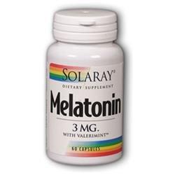 Solaray Melatonin with Valerimint - 3 mg - 60 Capsules