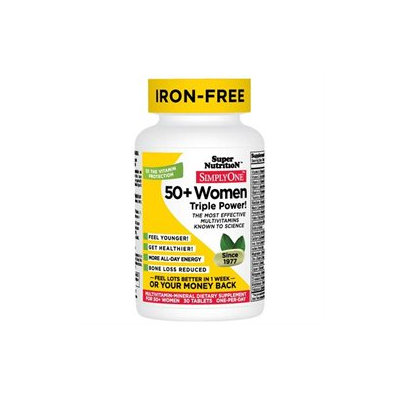 Super Nutrition Simply One Multi-Vitamin/Mineral Dietary Supplement Tablets, 30 Each