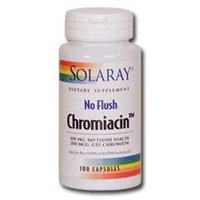 Solaray No Flush Chromiacin - 100 mg - 50 Capsules