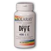 Solaray E Dry W/ Hawthor 400 IU - 50 Capsules - Vitamin E Combinations