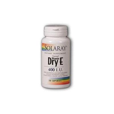 Solaray E Dry W/ Hawthor 400 IU - 50 Capsules - Vitamin E Combinations