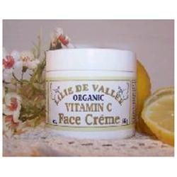 Organic Vitamin C face moisturizer - Lilie De Vallee - 2 oz - Cream
