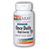 Solaray Once Daily Iron/Free - 60 Capsules - Multivitamins without Iron