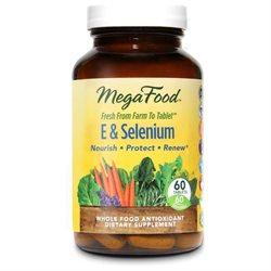 MegaFood E and Selenium - 60 Tablets