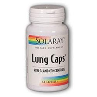 Solaray Lung Caps Raw Gland Concentrate - 200 mg - 60 Capsules