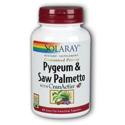 Solaray Pygeum and Saw Palmetto with CranActin - 90 Capsules