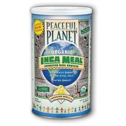 Solaray Peaceful Planet Organic Inca Meal Sprouted Rice Protein - Peruvian Vanilla