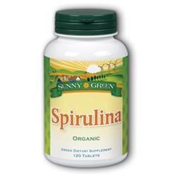 Solaray Spirulina - 120 Tablets - Spirulina