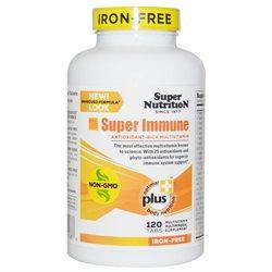 Super Nutrition Super Immune Multi-Vitamin Iron Free - 120 Vegetarian Tablets