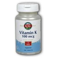 Kal Vitamin K - 100 mcg - 100 Vegetarian Tablets