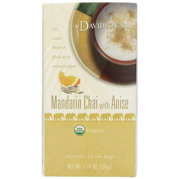 3M Davidson's Tea Mandarin Anise Chai, 25 Count Tea Bag