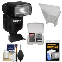 Energizer ENF-600C Power Zoom LCD i-TTL Flash with Bounce Reflector + Kit for Nikon D3100, D3200, D3300, D5100, D5200, D5300, D7000, D7100, D610, D800, D4s Digital SLR Cameras