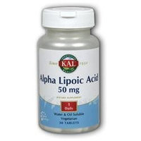 Kal Alpha Lipoic Acid - 50 mg - 30 Vegetarian Tablets