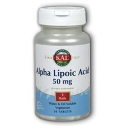 Kal Alpha Lipoic Acid - 50 mg - 30 Vegetarian Tablets