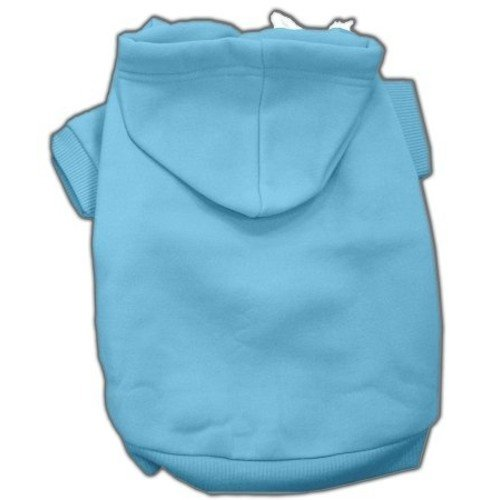 Mirage Pet Products 16-Inch Blank Hoodies, X-Large, Baby Blue