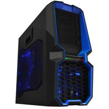Raid Max Raidmax Blackstorm SECC Steel/Plastic ATX Mid Tower Computer Case, Black/Blue