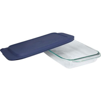 World Kitchen, Inc. Pyrex 3 qt Oblong with Blue Plastic Cover - WORLD KITCHEN, INC.
